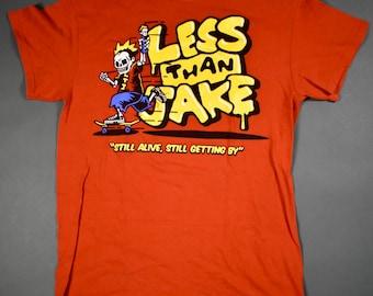 vintage less than jake tshirt ska punk tshirt pop punk tshirt punk rock tshirt 1996 white tshirt xl size