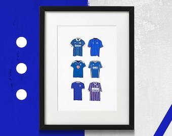 Pompey Kit Portsmouth FC Print Goodmans Classic Kit 1991 Home Shirt Art