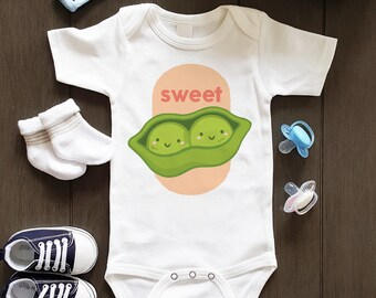 44ae2d22463c62 Sweet Pea Bodysuit, Food Themed Onesie, Sweet Pea Baby Clothes, Baby Girl  Gift, Baby Boy Gift, Baby Shower Onesie