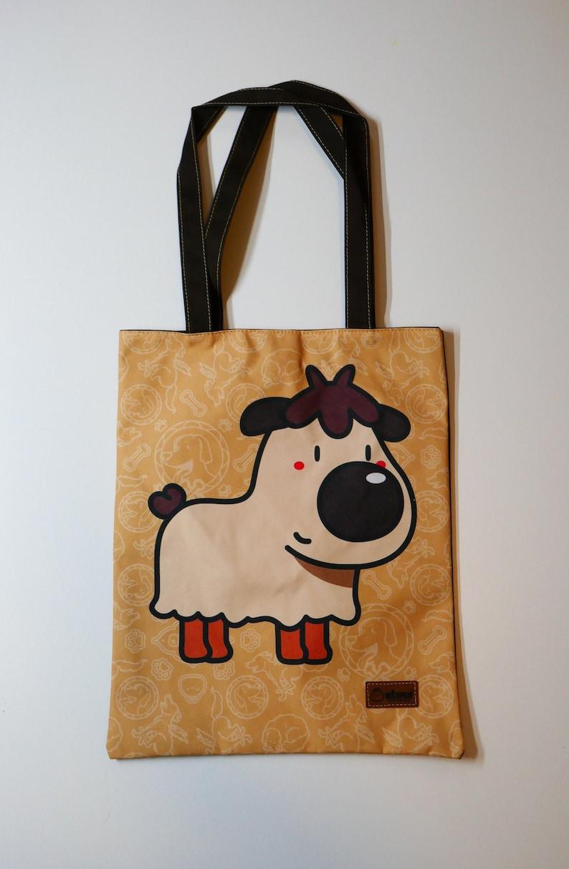 Stylish City Dog Scruffy Picnic Print # 1 Beach Bag Fashion Tote Handbag