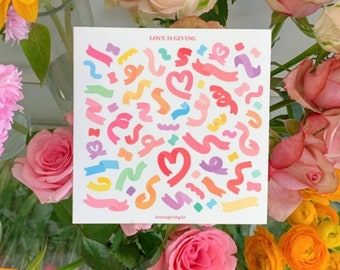 Confetti ribbon sticker for polcos- stationery sticker Scrapbook Craft journaling journal illust planner creative kid stickers korean kpop