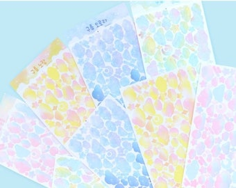 CLOUD Removable Stickers -  korean stickers, journaling supplies, journal with me, polcos stickers