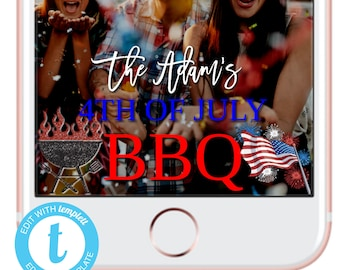 fourth of july party july 4th bbq party backdrop 4th of july snapchat filter geofilter frame patriotic party decorations party decor