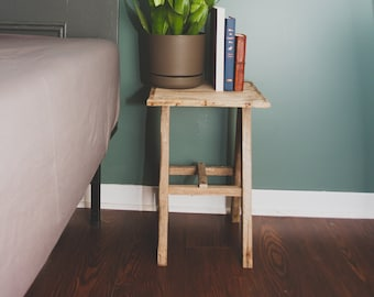 Lobster Trap Nightstand. End Table made from salvaged Prince Edward Island Lobster Traps.
