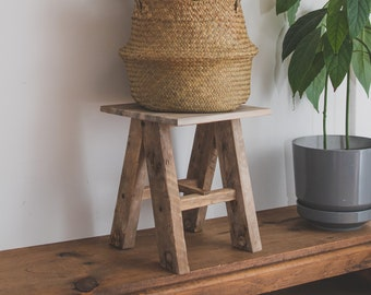 Natural Lobster trap plant stand. Eco- responsibly reclaimed wooden plant stand made with salvaged lobster trap wood.