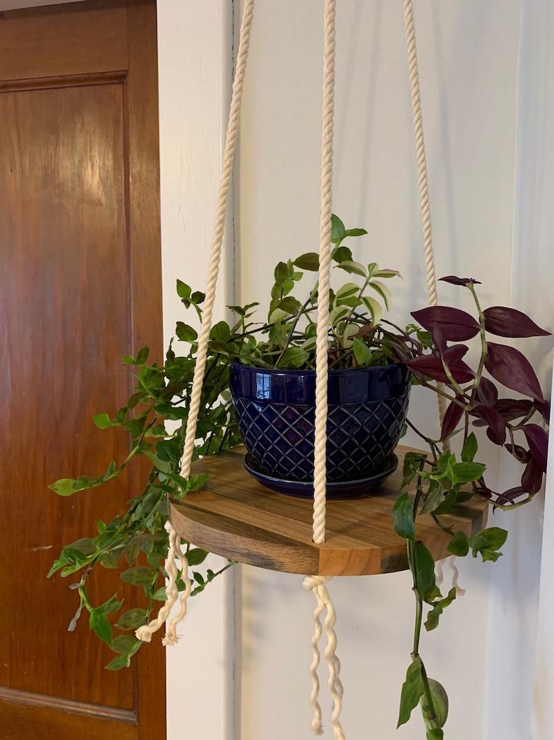 Hardwood Mixed Round Floating Shelf. Reclaimed Wooden Circle image 0