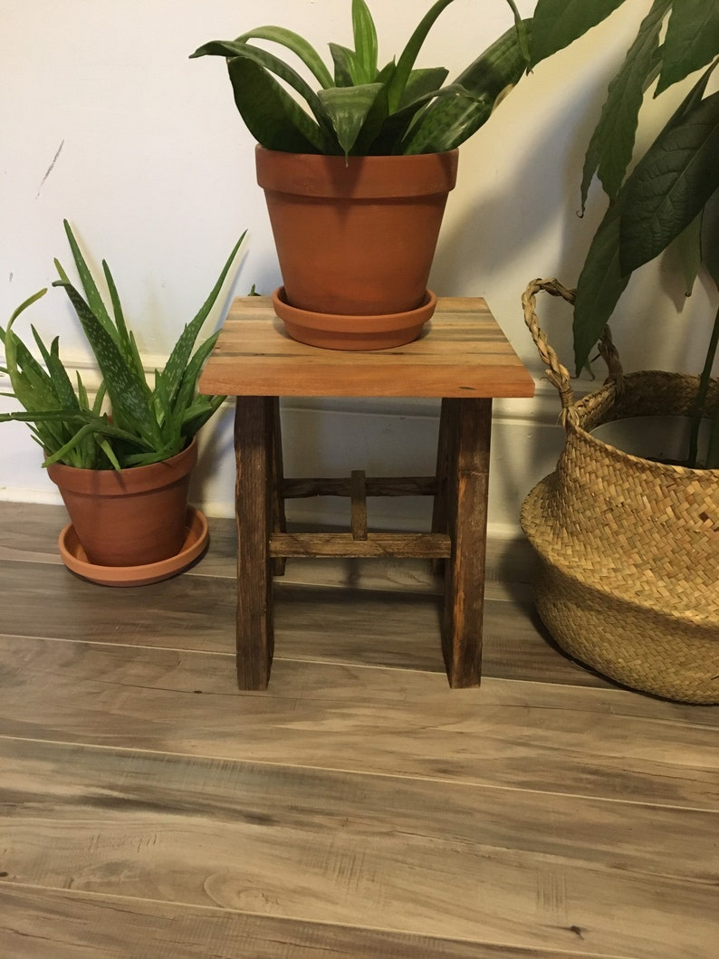 Gorgeous Lobster Trap Plant Stand. Reclaimed wooden plant image 0