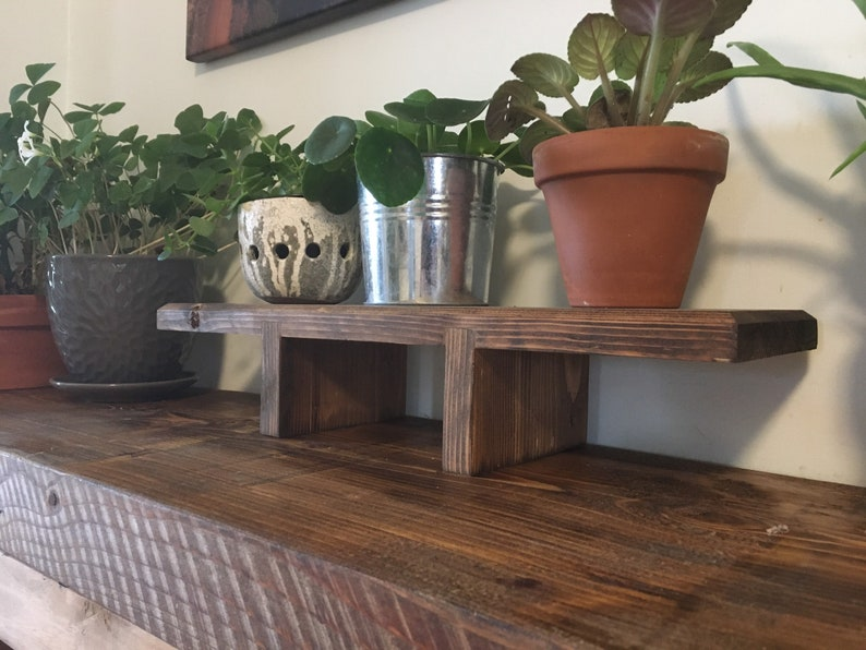 Handmade Wooden Plant Riser. Salvaged Barnboard Rustic Plant image 0