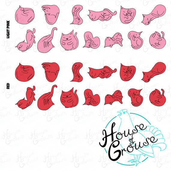 Kawaii Clipart Cats clip art pack cats clipart for stickers cat digital stamps cute cat stickers pack