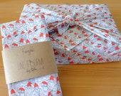 FUROSHIKI Christmas theme 58 x 58 cm - 68 x 68 cm Green Packaging - Zero waste - Oeko Tex Class 100 - Gift packaging