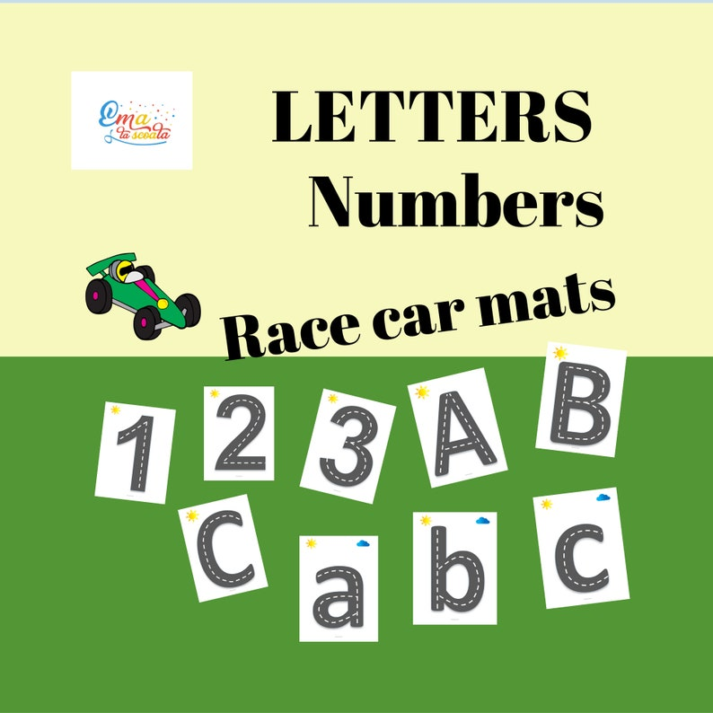 photograph regarding Printable Letters and Numbers referred to as Print and Determination, Race Autos Letters and Quantities, Printable Mat Worksheets