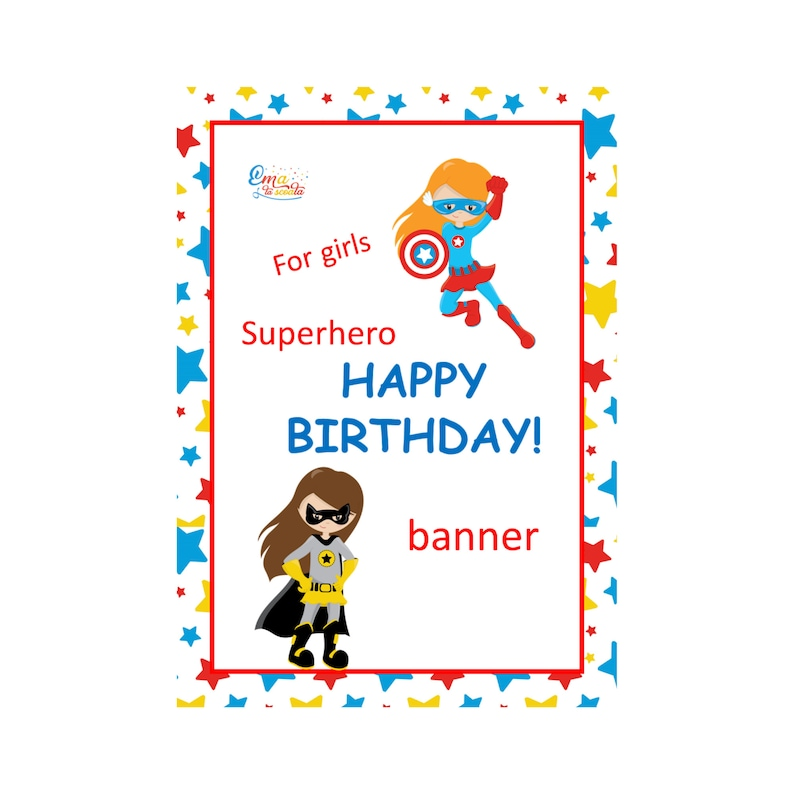 photograph relating to Making a Printable Banner named Printable Pleased Birthday Female Banner, Customized Superhero Occasion Garland, Reusable Occasion Banner