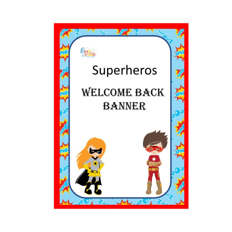 photograph relating to Welcome Banner Printable referred to as Superhero Welcome Banner, Printable Welcome Indication, Electronic Clroom Decor