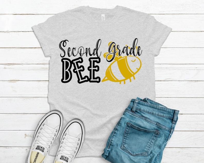 School Svg Digital Downloads Cricut Designs Second Grade Bee Svg Back to School Svg Svg Files for Cricut First Day of School Svg