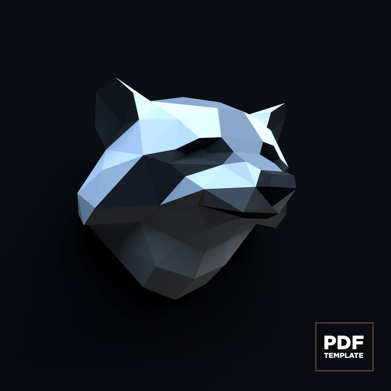 3D Papercraft Raccoon 3D PDF Template Papercraft Animals | Etsy