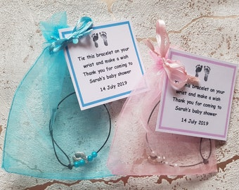 PinkBlueTeal Baby Shower Seeded Star Favour Cards x5
