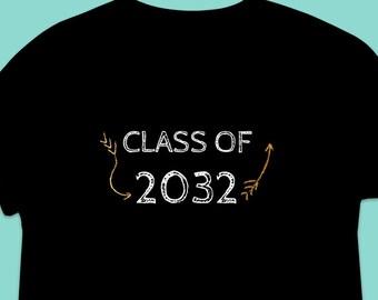 b111354e23ff5b Class Of 2032 Shirt Pre-K Graduate Preschool Graduation T-Shirt Short-Sleeve  Unisex T-Shirt