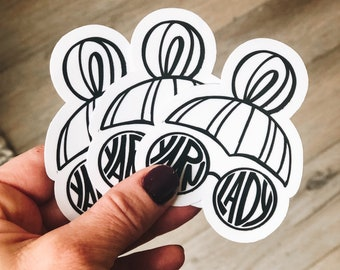 Yarn lady stickers (3 pack)