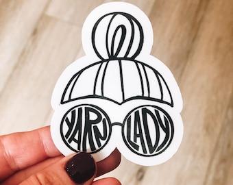 Yarn lady stickers (single)