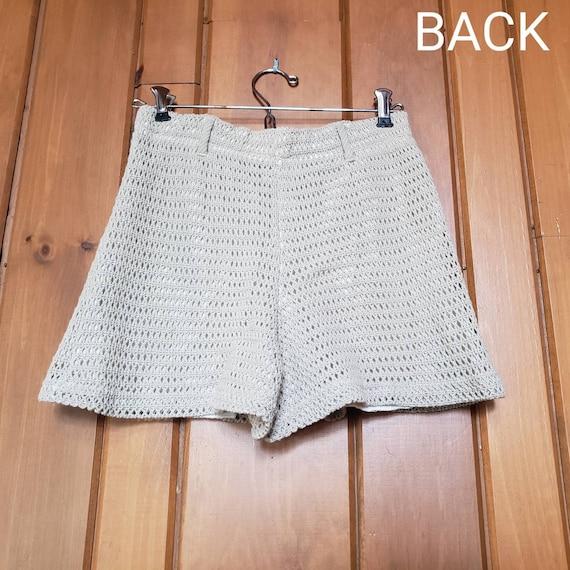 Vintage 90s Knit Shorts // Fully Lined Elastic Wa… - image 5