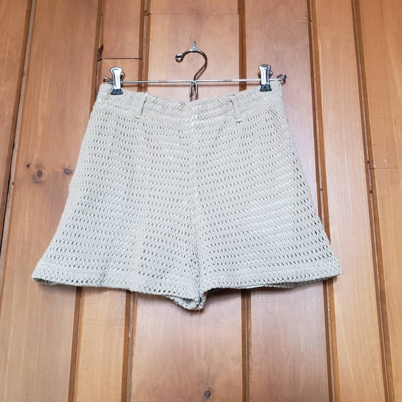 Vintage 90s Knit Shorts // Fully Lined Elastic Wa… - image 2