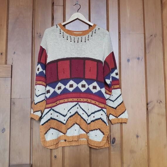 Vintage 90s Embellished Pullover Sweater // Beaded