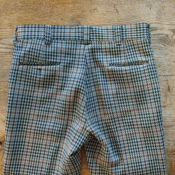Vintage 70s Houndstooth Knit Trousers // High Wai… - image 5