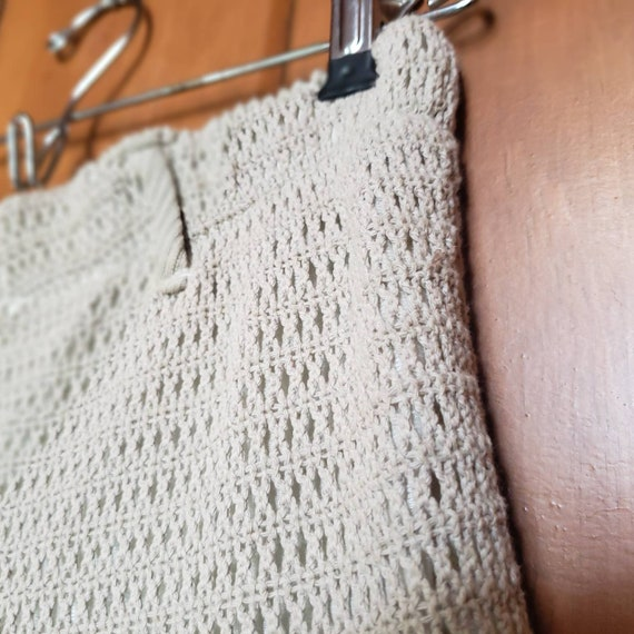 Vintage 90s Knit Shorts // Fully Lined Elastic Wa… - image 3
