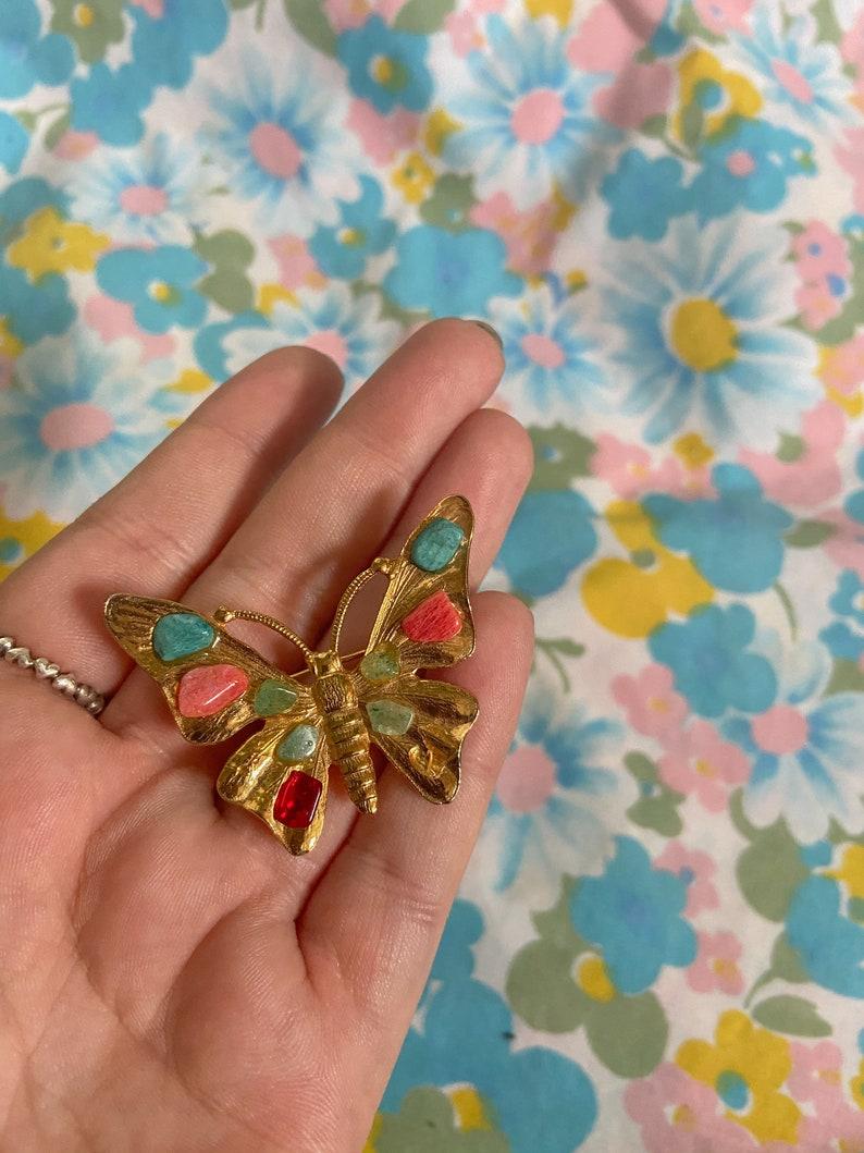 Vintage Brooch Vintage butterfly brooch Vintage Jewelry Nature Jewelry