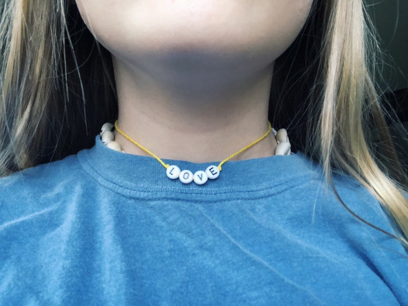 love yellow vsco choker/necklace