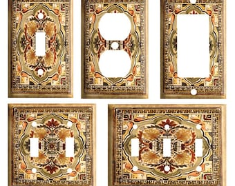 DRAGONFLY MOSAIC STAINED GLASS LOOK 2 GANG LIGHT SWITCH WALL PLATE BEDROOM DECOR