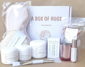 Box of hugs- Spa gift box- teachers gift- gift for her-graduation gift- self care gift- spa gift basket- pamper basket-