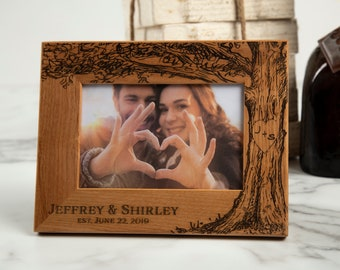 Personalized Photo Frame Monogram Picture Frame Wedding Gifts --PF-BL-MH Custom Monogrammed Picture Frame Custom Photo Frame