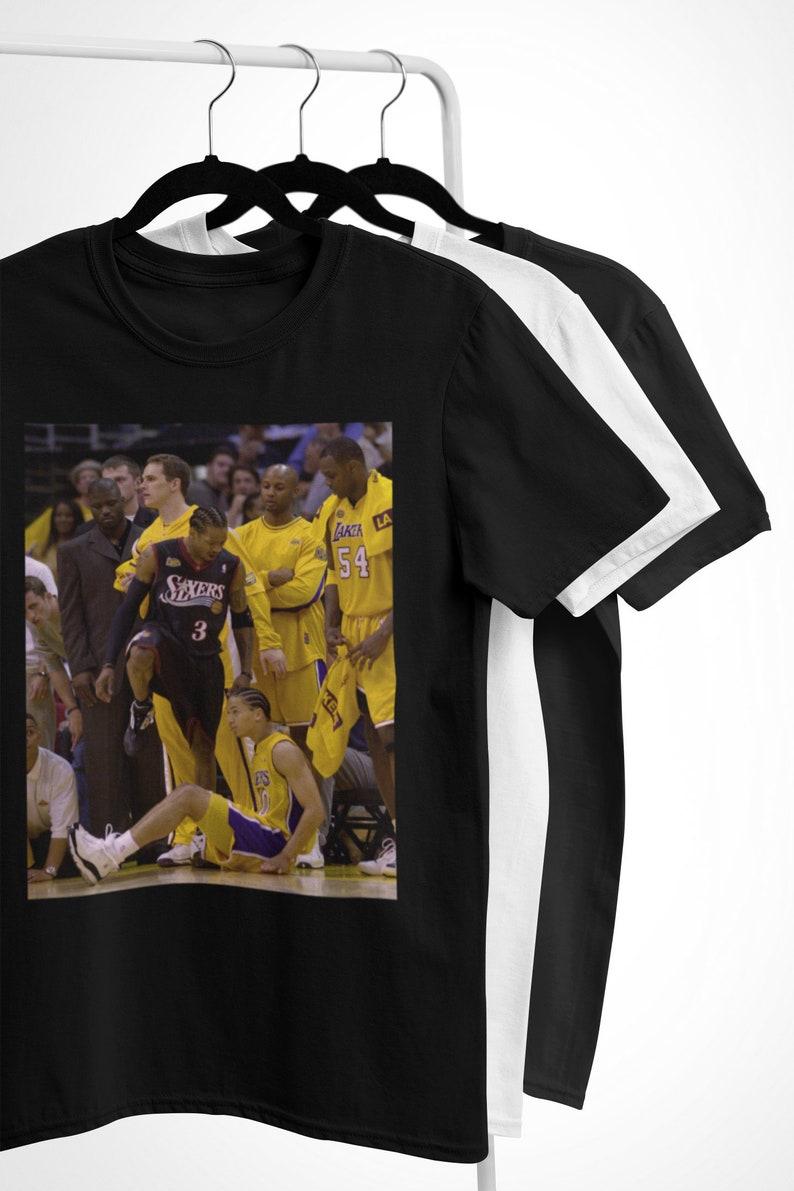 brand new d7599 98302 Allen Iverson Step Over T-Shirt - 76ers Shirt