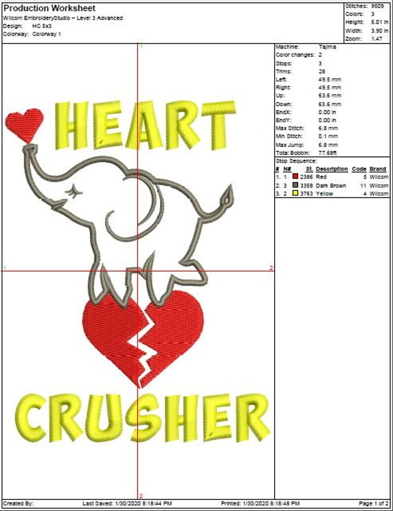 Embroidery Design Machine Embroidery Design DesignsbyHocane Heart Crusher 4 Sizes Instant Download
