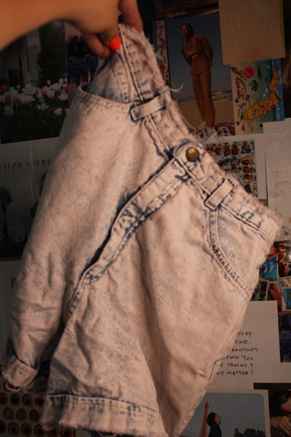 80s Acid Wash Denim Shorts