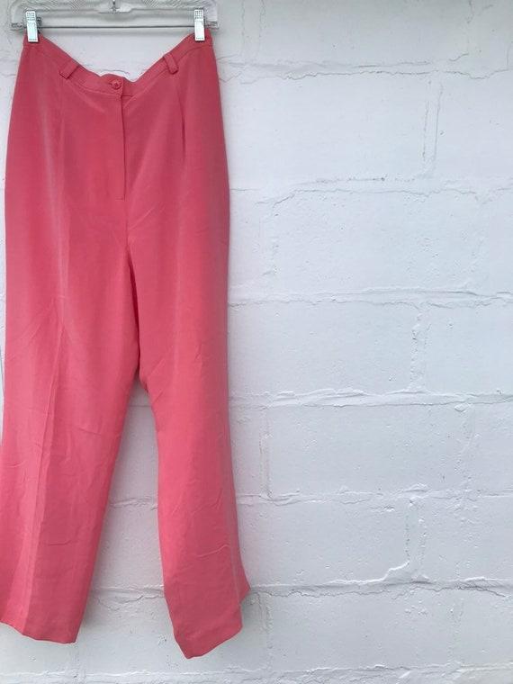 Vintage high waisted silk pants