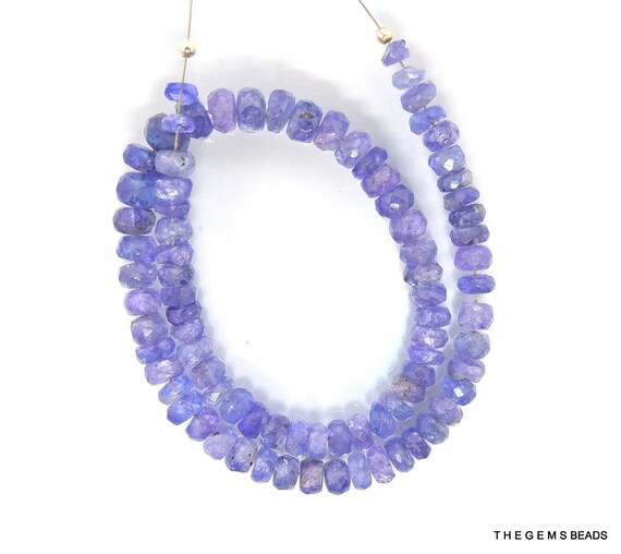 28 Pcs Tanzanite Beads Tanzanite Necklace Natural Tanzanite Faceted Heart Beads 4 Inch AGA87 5-6mm