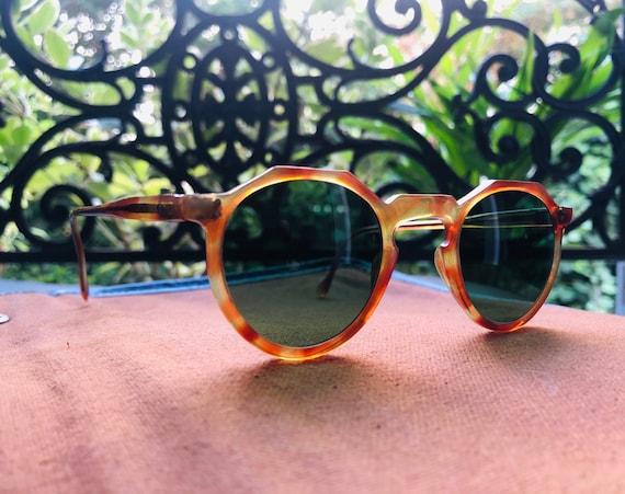 Rare 1940s Crown Panto Sunglasses (Handmade in Fra