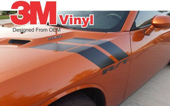 Choose Color Dodge Challenger 2008-2019 Fender Hash Side Stripes Decals