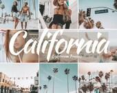 10 Lightroom Mobile Presets, California, Blogger Presets, Travel Presets, Photo Editing, Lightroom Presets, Instagram Blogger, DNG