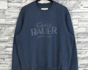 Eddie Bauer Sportswear Pullover Sweatshirt Large Vintage 90/'s Eddie Bauer Spell Out Streetwear Jumper Crewneck Size L