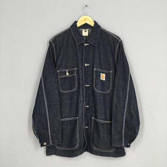 Vintage Carhartt Rugged Workwear Jacket Blue Mens