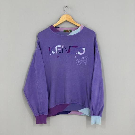 Vintage Kenzo Jeans Sweatshirt Pullover Large Purp