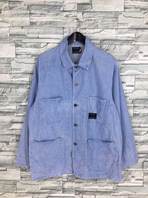 Vintage 1980s Denim Jeans Worker Jacket Medium Uni