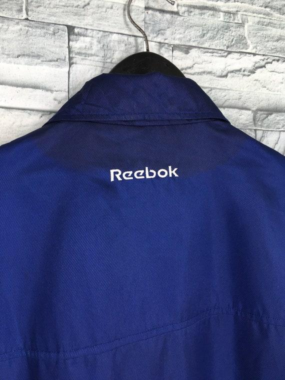 Reebok Sports Windbreaker Jacket Large Blue Vinta… - image 10