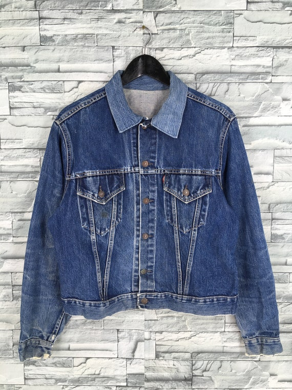 Vintage 1950's LEVIS BIG E Jeans Jacket Medium Vin
