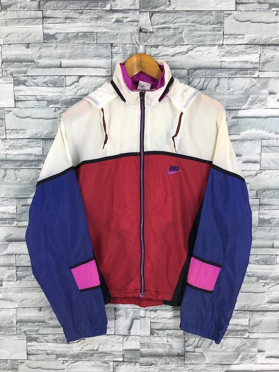 Vintage 90's Nike Windbreaker Hoodie Jacket Small