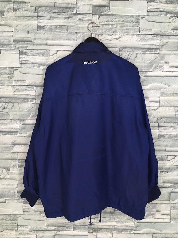 Reebok Sports Windbreaker Jacket Large Blue Vinta… - image 9