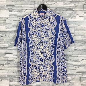 Shirt Sukajan Style Silk wonderful real Hawaiian shirt from Hanauma Bay Honolulu Hawaii Large size Dragon Japanese style 70s neck